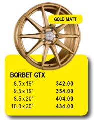 BORBET GTX - Alufelgen/Jantes