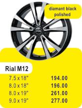 Alufelge RIAL M12