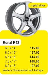 Alufelge RONAL R42
