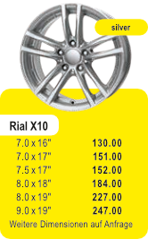 Alufelge RIAL X10